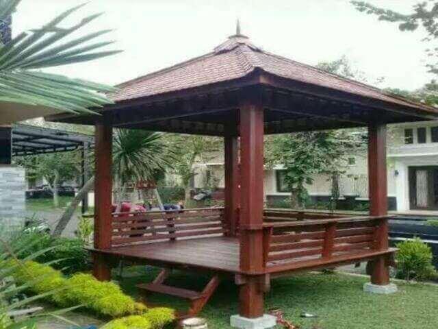 Gazebo / Saung, Jasa Gazebo / Saung Jogja, Jasa Taman Jogja, Jasa Pembuatan Taman Jogja, Tukang Taman Jogja, Jasa Buat Taman Jogja